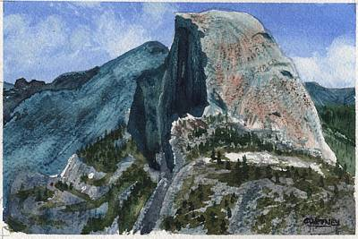 Half Dome Painting - Half Dome by Matthew Coatney