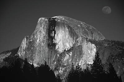 Half Dome Moonrise Art Print