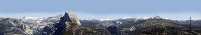Photograph - Half Dome Panorama by Bransen Devey