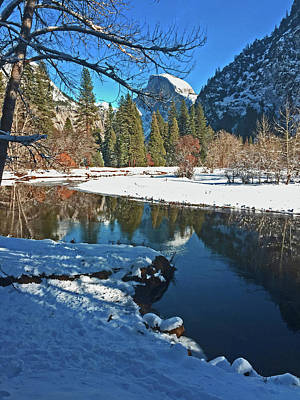 Photograph - Half Dome Reflections 12 2015 by Walter Fahmy