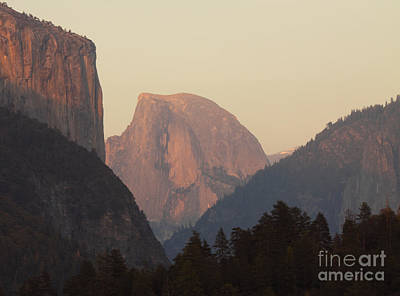 Half Dome Rising In Distance Art Print by Max Allen