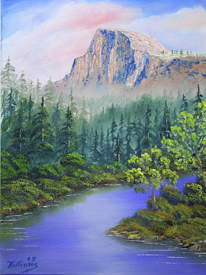 Yosemite Painting - Half Dome Sunrise by William Williams