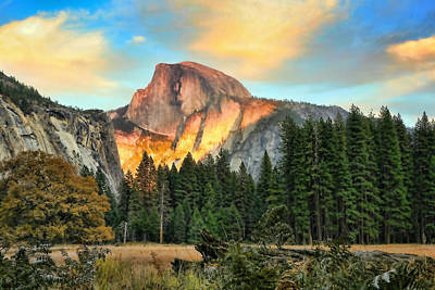 Chuck Kuhn Photograph - Half Dome Sunset by Chuck Kuhn