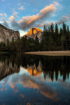 Photograph - Half Dome Sunset Glow by Jay Moore