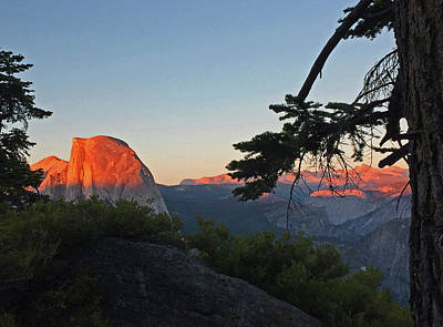 Photograph - Half Dome - Sunset On A Bright Day by Walter Fahmy
