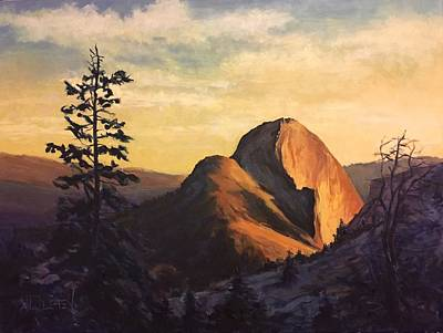 Half Dome Painting - Half Dome Sunset by Vlad Duchev