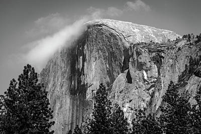 Yosemite Photograph - Half Dome Topped With Clouds by Gareth Burge Photography