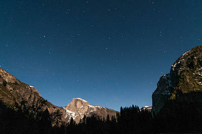 Photograph - Half Dome Under The Stars by Connie Cooper-Edwards