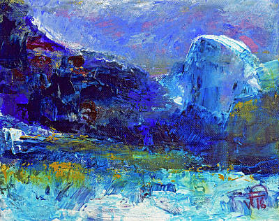 Painting - Half Dome Winter by Walter Fahmy
