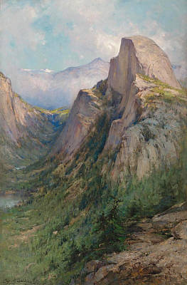 Half Dome Painting - Half Dome. Yosemite by George Henry Smillie