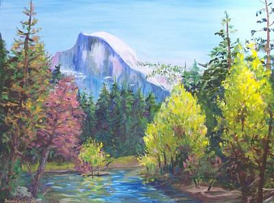 Half Dome Painting - Half Dome - Yosemite by Susan Lutz