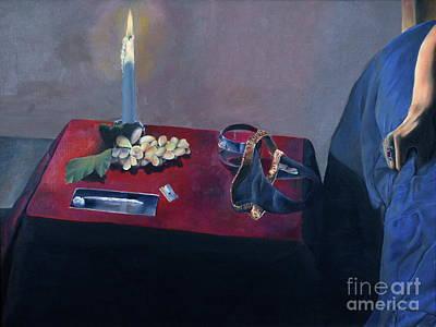 Noble Richardson Painting - Half Empty Half Full by Noble Richardson