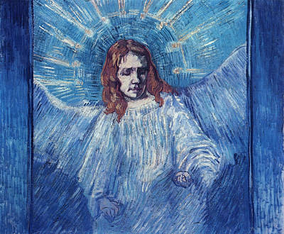 Vincent Painting - Half-figure Of An Angel, After Rembrandt by Vincent van Gogh