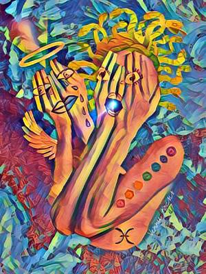 Digital Art - Half Human by Vennie Kocsis