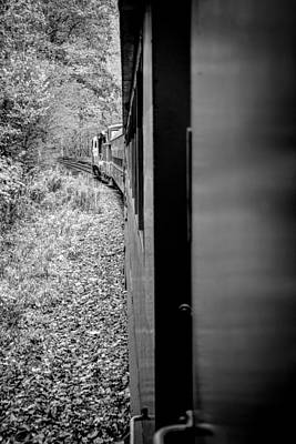 Photograph - Half In Half Out Of The Train In The Mountains by Kelly Hazel