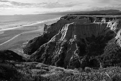 Half Moon Bay Photograph - Half Moon Bay II Bw by David Gordon