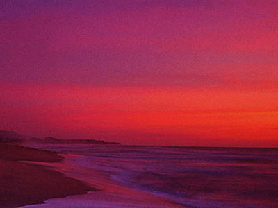 Half Moon Bay Sunset Art Print by Vicky Brago-Mitchell