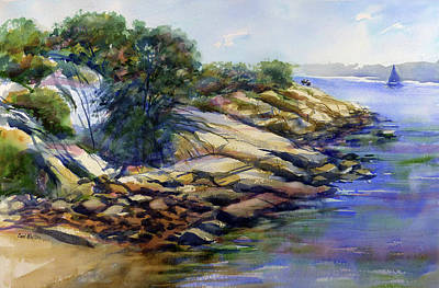 Painting - Half Moon Beach, Gloucester by Carl Whitten