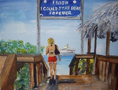 Half Moon Cay Bahamas Art Print