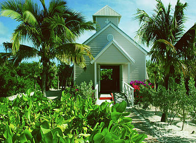 Photograph - Half Moon Caye Church by Gary Wonning
