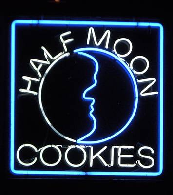 Que Photograph - Half Moon Cookies In Neon by Timothy Smith