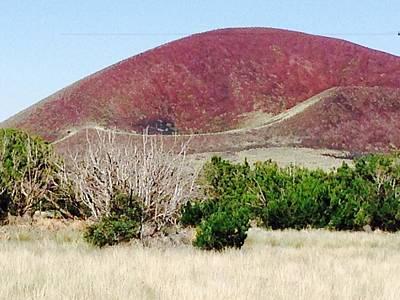 Photograph - Half Moon Crater Volcano by Michael Oceanofwisdom Bidwell