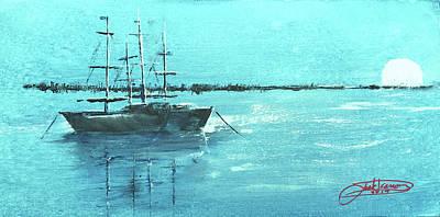 Painting - Half Moon Harbor by Jack Diamond