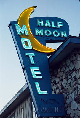 Signs Photograph - Half Moon Motel by Matthew Bamberg