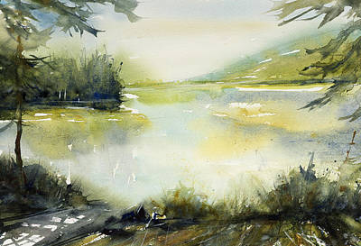 Painting - Half Moon Pond by Judith Levins