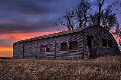 The Old Shed Photograph - Half Round by Thomas Zimmerman