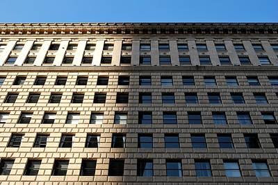 Photograph - Half Shadow Golden Hour Architecture by Matt Harang