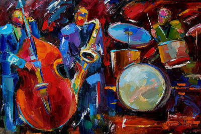 Saxophone Painting - Half The Band by Debra Hurd
