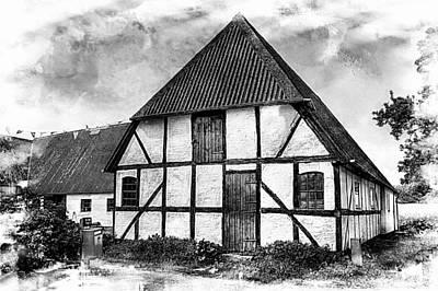 Photograph - Half Timbered Danish House by Karen McKenzie McAdoo