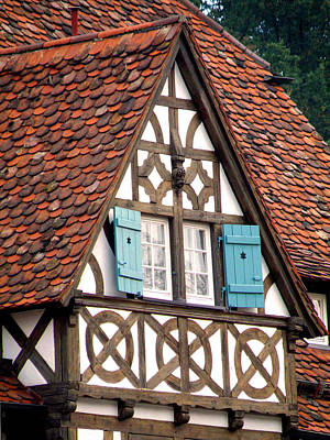Photograph - Half-timbered House by Jean Hall