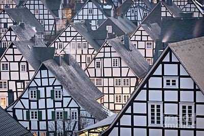 Photograph - Half-timbered Houses In Detail In Germany by IPics Photography