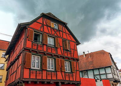 Photograph - Half-timbered Houses In Obernai Village, Alsace, France by Elenarts - Elena Duvernay photo