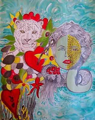 Mixed Media - Half Woman by Nicole Burrell
