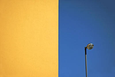 Colorful Photograph - Half Yellow Half Blue by Silvia Ganora