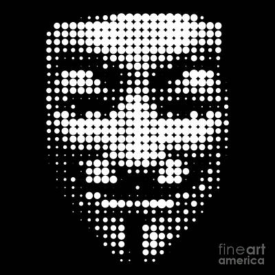 Digital Art - Halftone Anonymous Face  by Igor Kislev