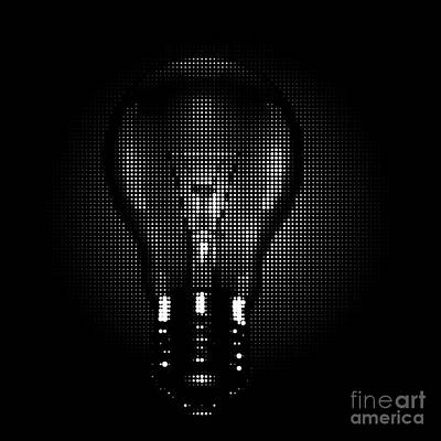 Digital Art - Halftone Lighbulb by Igor Kislev