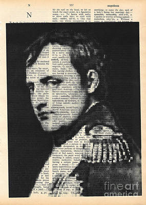 Mixed Media - halftone Napoleon  by Igor Kislev