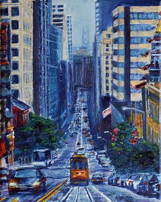 Streetscape Painting - Halfway To The Stars by Ken Wilson