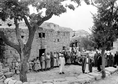 Photograph - Halhul Village 1940 by Munir Alawi