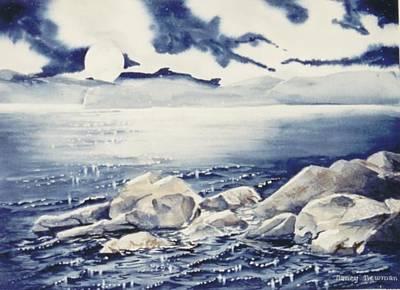 Haliburton-rocks Art Print by Nancy Newman