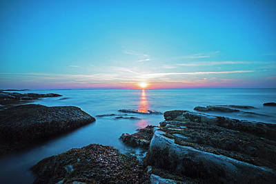 Photograph - Halibut Point State Park Sunset In Rockport Ma by Toby McGuire