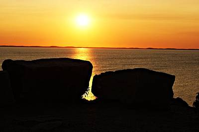 Photograph - Halibut Point Sunset A by Joe Faherty