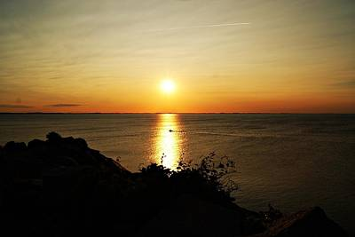 Photograph - Halibut Point Sunset C by Joe Faherty