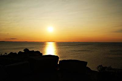 Photograph - Halibut Point Sunset D by Joe Faherty