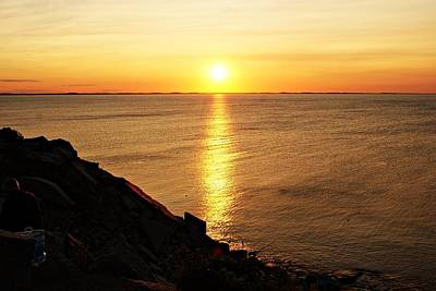 Photograph - Halibut Point Sunset F by Joe Faherty