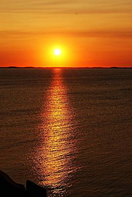 Photograph - Halibut Point Sunset H by Joe Faherty